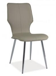 Tapicerowane ekoskórą krzesło H676