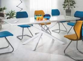 Biały rozkładany stół Taranto