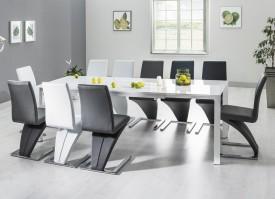 Biały rozkładany stół Lugano
