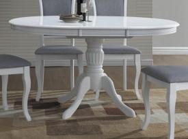Okrągły biały rozkładany stół Olivia