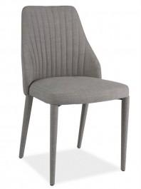 Krzesło Arsen w całości tapicerowane szarą tkaniną