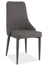 Krzesło Aura w całości tapicerowane szarą tkaniną