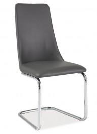 Krzesło z ekoskóry na płozach H255