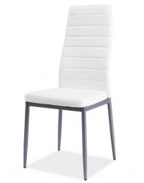 Krzesło z ekoskóry H261 alu