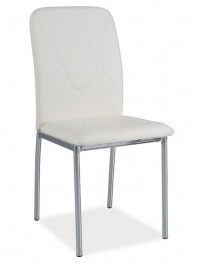 Krzesło z ekoskóry H623 / chrom