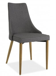 Krzesło Sand tapicerowane szarą tkaniną