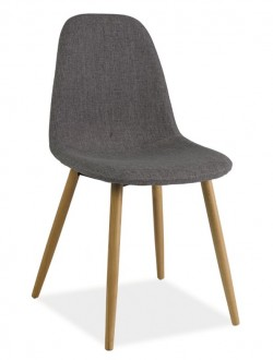 Krzesło Rubi tapicerowane szarą tkaniną