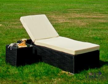 Łóżko ogrodowe Amato + stolik