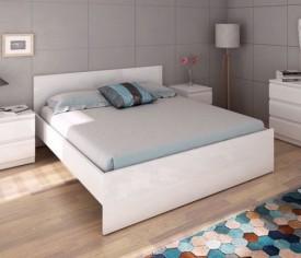 Łóżko 160x200 wysoki połysk Naia