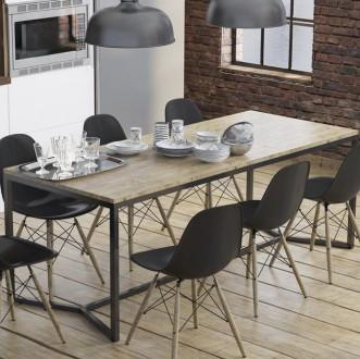 Stół z blatem z drewna Rude