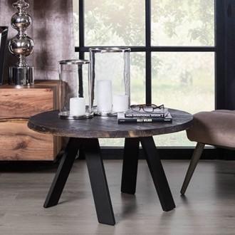 Designerski stolik z litym blatem drewnianym Walk