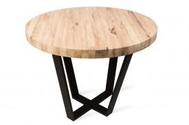 Okrągły stół z litym drewnianym blatem Tavolo