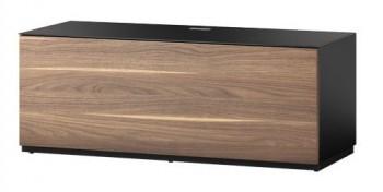 Stolik RTV ST110 BLK z frontem w kolorze orzecha