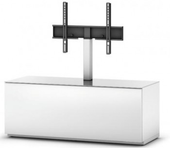 Stolik RTV ST111 WHT / biały front z uchwytem