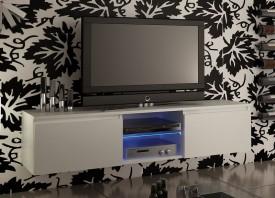 Szafka RTV w kolorze białym matowym Adis 3