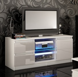Szafka RTV w kolorze białym Adis 8