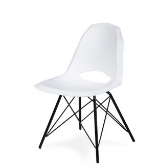Białe krzesło z tworzywa do nowoczesnych jadalni Gular
