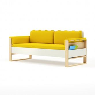 Sofa Loft szer. 195 cm z materacem, bocznymi i tylnymi poduszkami Plus Timoore
