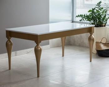 Stół Milano na stelażu w kolorze złota