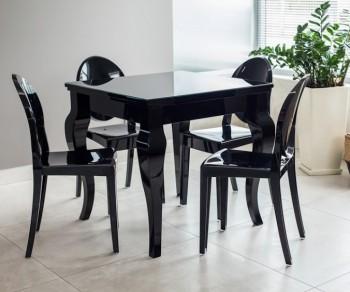 Czarny stół w połysku Torino