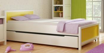 Łóżko dziecięce z litego drewna 90x200 Easy białe