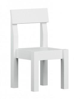 Krzesło dziecięce z litego drewna Easy białe