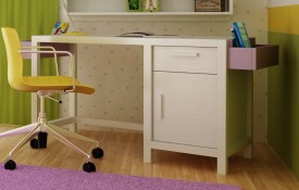 Biurko dziecięce z litego drewna Easy