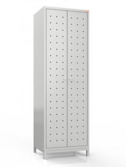 Metalowa szafa ubraniowa z perforacją BHP/2NP