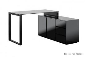 Czarne lakierowane biurko Marin