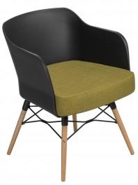Czarne krzesło z poduszką Viva