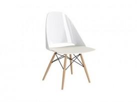 Krzesło na drewnianych nogach Aero White