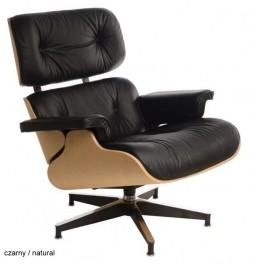 Czarny fotel VIP ze standardową bazą