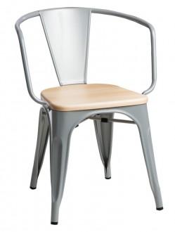 Krzesło Paris Arms Wood sosna naturalna insp. Tolix