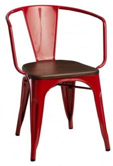 Krzesło Paris Arms Wood sosna orzech insp. Tolix