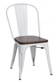 Krzesło Paris Wood sosna orzech insp. Tolix