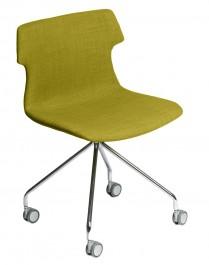 Tapicerowane krzesło na kółkach Techno Roll