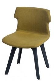 Tapicerowane krzesło Techno z czarną podstawą