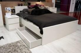 Łóżko 140x190 wysoki połysk Naia