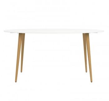 Owalny stół Oslo 160x80 w stylu skandynawskim