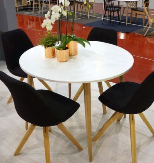 Okrągły stół Oslo 100x100 w stylu skandynawskim