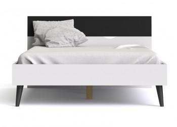 Łóżko Oslo 160x200 biało-czarne