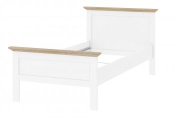 Łóżko 90/200 Paris biały - dąb sonoma