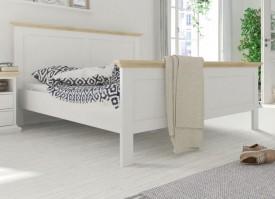 Łóżko Paris 140x200 biały - dąb sonoma