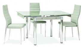 Stół z blatem ze szkłą hartowanego GD082