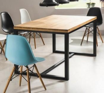 Stół w stylu industrialnym Loras A 180/90 czarny