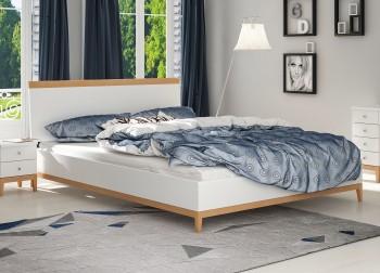 Łóżko bukowo-sosnowe Visby Livia