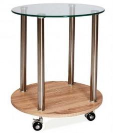 Stolik kawowy z półką na kółkach Carla