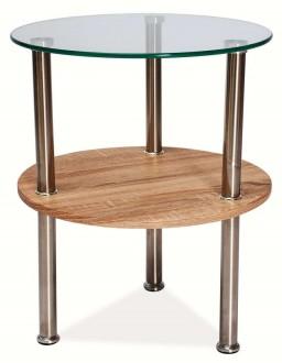 Okrągły stolik z półką Ivet