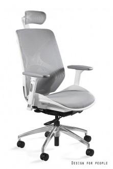 Ergonomiczny biały fotel biurowy Hero W-NWH siatka