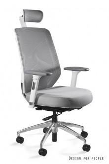 Biały obrotowy fotel biurowy Hero W-BLH tkanina